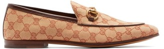 Gucci Jordaan Gg Canvas Loafers - Mens - Brown