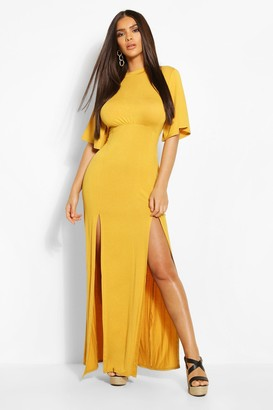 boohoo Jersey Curved Seam Midaxi Dress
