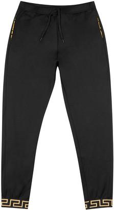 Versace Black jersey sweatpants