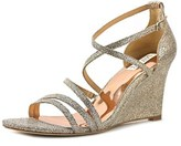 Badgley Mischka Bonanza Open Toe Synthetic Wedge Heel.