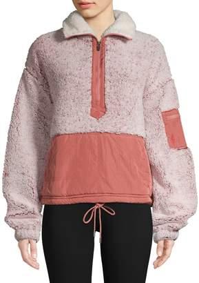 Free People Colourblock Fleece Jacket