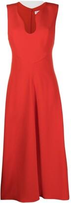 Victoria Beckham V-neck midi dress