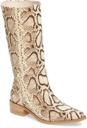 Freda Salvador Julia Snake Embossed Boot