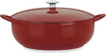 Mario Batali Classic 7.5-Quart Enameled Cast Iron Covered Stew Pot
