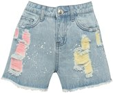 M&Co Coloured ripped denim shorts