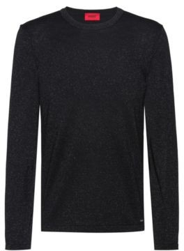 HUGO BOSS Knitted Sweater In A Wool Blend With Metalized Yarns - Black