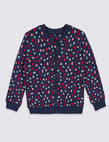 Marks and Spencer Pure Cotton Zip Through Sweatshirt (3 Months - 5 Years)