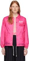 Comme des Garcons Pink Logo Coaches Jacket
