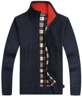 Shengweiao Men's Zip Knitted Cardigan Sweater Size Us M
