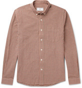 Ami Slim-Fit Button-Down Collar Gingham Cotton Oxford Shirt