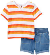 Splendid Ombre Printed Stripe & Short Set (Baby Boys)
