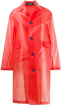 Undercover star button raincoat