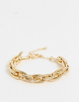 Uncommon Souls chunky link bracelet in gold