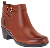 Clarks As Is Leather Ankle Boots w/ Buckle Detail - Malia Hawthorn