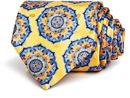 Ermenegildo Zegna Bold Floral Medallion Silk Classic Tie