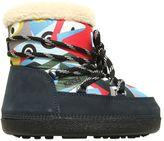 Fendi Nylon & Faux Shearling Snow Boots