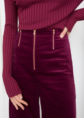 And other stories Trio Zipper Velvet Pants
