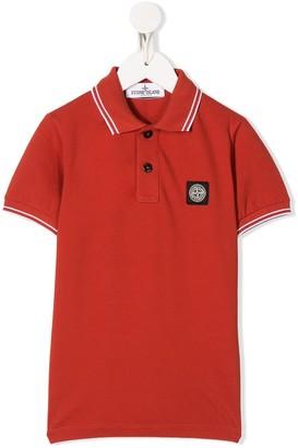 Stone Island Junior Pique Logo polo shirt