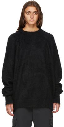 Haider Ackermann Black Mohair Kidtop Oversized Crewneck