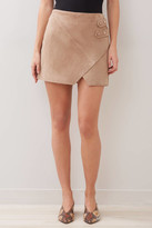 Blank NYC Macchiato Suede Cross Front Skirt Tan 26