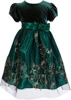 Jayne Copeland Little Girls 2T-6X Solid/Pattern A-Line Dress
