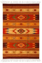 Novica Handcrafted Zapotec Wool 'Stellar Magnificence' Rug 4x7 (Mexico)