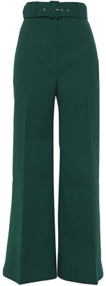 Emilia Wickstead Belted Cloque Flared Pants