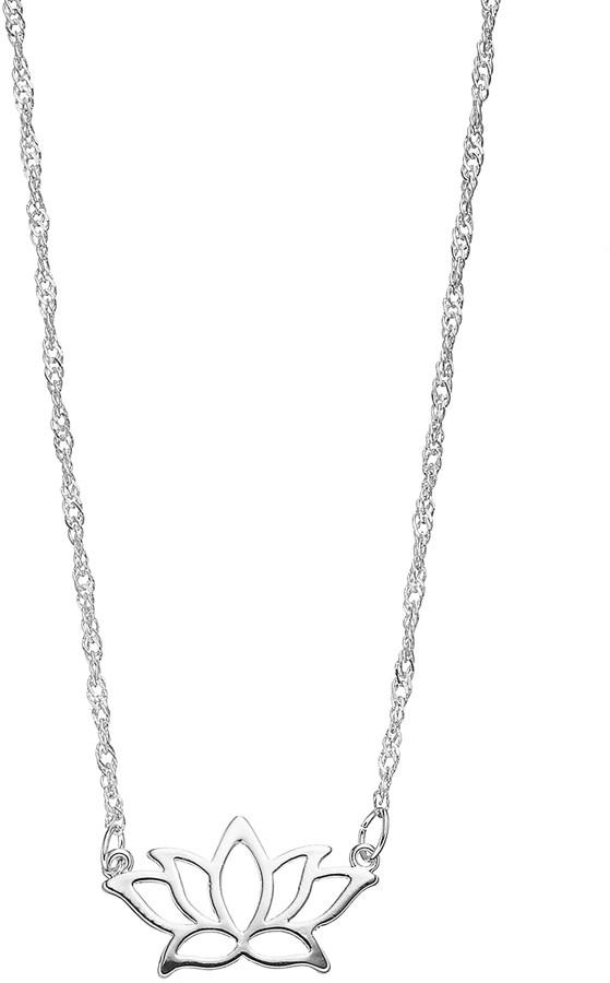 Lotus Flower Necklace Shopstyle