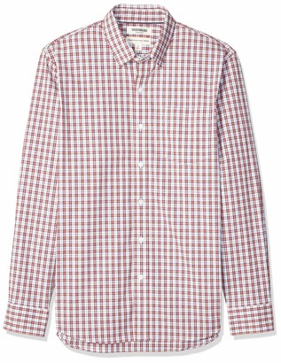 Goodthreads Amazon Brand Men's Standard-Fit Long-Sleeve Wrinkle Resistant Comfort Stretch Poplin with Easy-Care