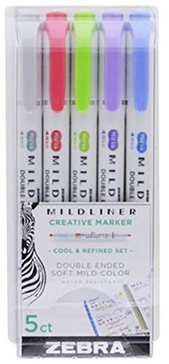 Zebra Mildliner Highlihters 5 Pack Cool