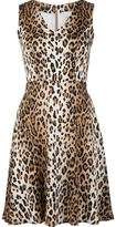 Carolina Herrera leopard print v-neck dress