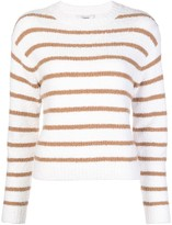 Vince striped crew-neck jumper