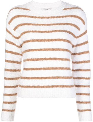 Vince Striped Crew-Neck Jumper