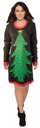 Forum Women's Ugly Christmas Sweater Dress Tree