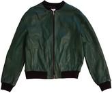 Iceberg Green Leather Jacket for Women
