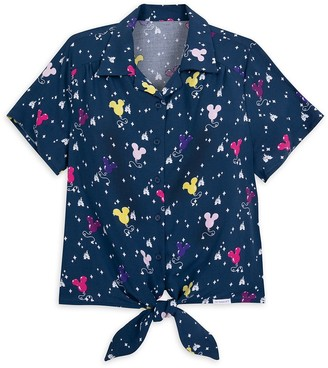 Disney Mickey Mouse Balloon Woven Blouse for Women by Her Universe