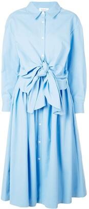 Rosie Assoulin tie-fastening shirt dress