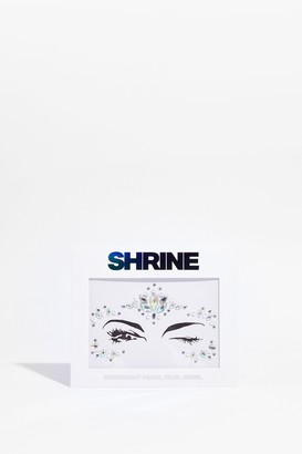 Nasty Gal Womens SHRINE Bling It on Pearl Face Jewels - Silver