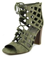 G by Guess Iniko Women Open Toe Suede Green Sandals.