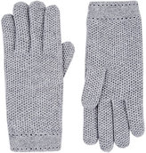 Barneys New York Women's Woven Cashmere Gloves-GREY