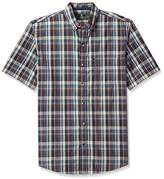 G.H. Bass & Co. Men's Upland Spacdye Button Down Short Sleeve Shirt