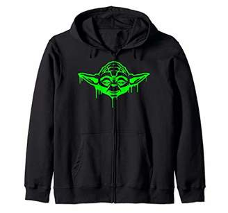 Star Wars Yoda Oozing Portrait Halloween Zip Hoodie