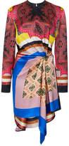 Etro Printed Long Sleeve Mini Dress