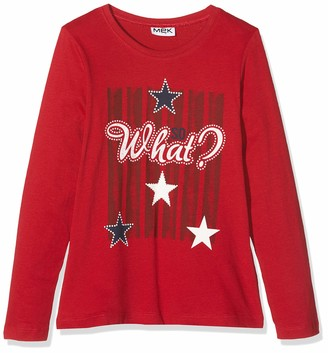 MEK Baby Girls T-Shirt Jersey Mano Daino CON Stampa Long Sleeve Top