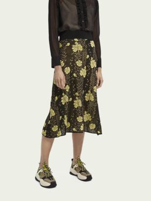 Scotch & Soda Knitted jacquard pattern midi skirt | Women