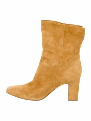 Tabitha Simmons Suede Square-Toe Ankle Boots