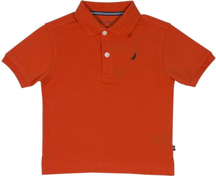 Nautica Toddler Boys' Short Sleeve Deck Polo with Stretch