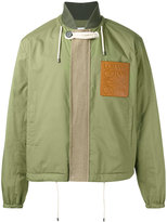 Loewe logo patch bomber - men - Cotton/Polyester/Linen/Flax/Leather - 50