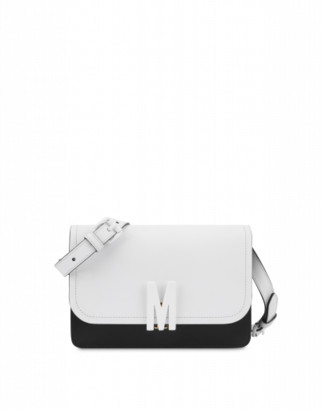Moschino M Bicolor Shoulder Bag Woman White Size U It - (one Size Us)