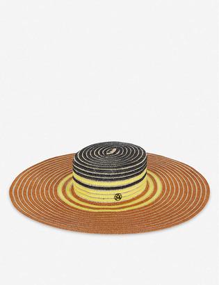 Maison Michel Ursula wide-brimmed straw hat